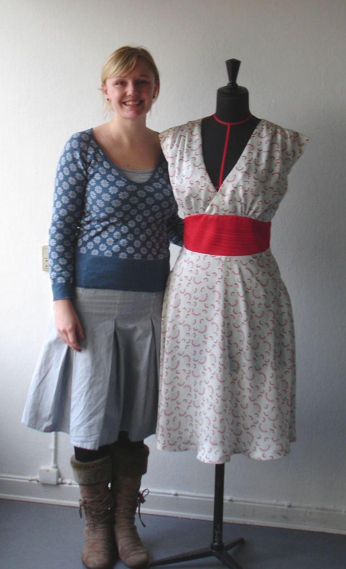 Selvportræt tekstildesigneren